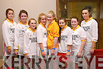 The Waterville team from left: Poppy Hillis, Aoibhin Fenton, Erin O'Shea, Georga O'Dwyer, Sinead O'Dwyer, Eva Murphy, Nikki Higgins and Katelyn Curran pictured at the Youth Clubs indoor soccer competition at the Aura Leisure Centre in Killarney on Sunday.