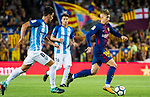 Gerard Deulofeu Lazaro (r) of FC Barcelona is followed by Adrian Gonzalez Morales of Malaga CF during the La Liga 2017-18 match between FC Barcelona and Malaga CF at Camp Nou on 21 October 2017 in Barcelona, Spain. Photo by Vicens Gimenez / Power Sport Images