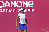 Defending Champion Anna Nordqvist (SWE) on the 1st tee during Thursday's Round 1 of The Evian Championship 2018, held at the Evian Resort Golf Club, Evian-les-Bains, France. 13th September 2018.<br /> Picture: Eoin Clarke | Golffile<br /> <br /> <br /> All photos usage must carry mandatory copyright credit (&copy; Golffile | Eoin Clarke)