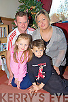 8 year old Paul O'Sullivan, Pinewood Estate, Killarney who is hoping for a kidney transplant before Christmas, pictured with his parents Tony and Teresa and sister Kelly Anne.
