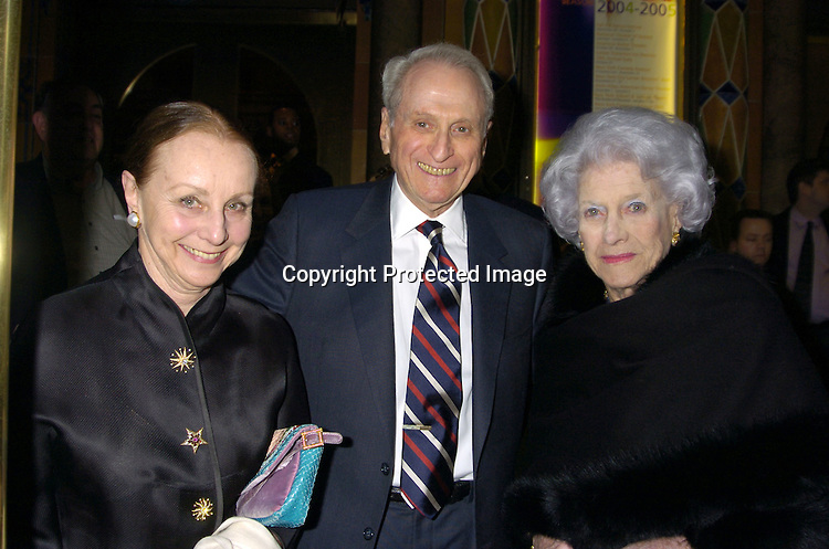Judy and Herb Schlosser and Philomena Gates..arriving at the Martha Graham Dance Company Opening Night Gala on April 6, 2005 at New York City Center. ..Photo by Robin Platzer, Twin Images