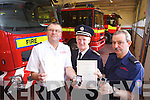 Nigel Corner (Station Officer), Vincent Hussey (Acting Chief Fire Officer) and Maurice Griffin (Driver/Mechanic Tralee Fire Station) who received long service awards on Tuesday evening at the Tralee Fire Station annual Mass.