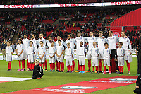 Equipe<br /> <br /> England during the National Anthem before the FIFA World Cup 2018 Qualifying Group F match between England and Slovenia at Wembley Stadium on October 5th 2017 in London, England. <br /> Calcio Inghilterra - Slovenia Qualificazioni Mondiali <br /> Foto Phcimages/Panoramic/insidefoto
