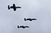 "A-10 ""Warthogs"" fly over Atlanta Motor Speedway during pre-race festivities."