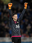 Real Sociedad's Geronimo Rulli celebrates the victory in La Liga match. April 9,2016. (ALTERPHOTOS/Acero)