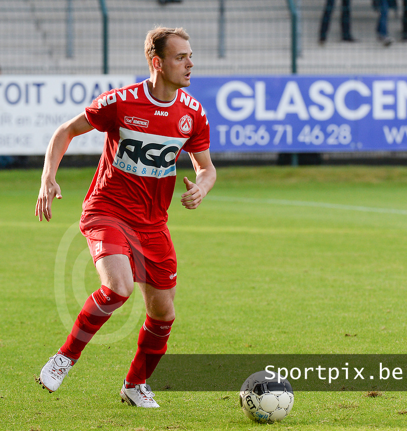 20140627 - HARELBEKE , BELGIUM:  Kortrijk's Brecht Capon pictured during a friendly match between SW Harelbeke and Belgian first division soccer team KV Kortrijk, the third match for Kortrijk of the preparations for the 2014-2015 season, Friday 27 June 2014 in Bissegem. PHOTO DAVID CATRY