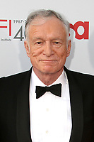 "27 September 2017 - Hugh Marston Hefner aka ""Hef"" was an American magazine publisher, editor, businessman, and international playboy best known as the editor-in-chief and publisher of Playboy magazine, which he founded in 1953. Hefner was the founder and chief creative officer of Playboy Enterprises, the publishing group that operates the magazine. Hefner was also a political activist and philanthropist. File Photo: 7 June 2007 - Hollywood, California - Hugh Hefner. 35th Annual AFI Life Achievement Award Honoring Al Pacino at the Kodak Theatre. Photo Credit: Byron Purvis/AdMedia"