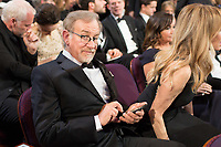 Oscar&reg;-nominee Steven Spielberg relaxes during the live ABC Telecast of the 90th Oscars&reg; at the Dolby&reg; Theatre in Hollywood, CA on Sunday, March 4, 2018.<br /> *Editorial Use Only*<br /> CAP/PLF/AMPAS<br /> Supplied by Capital Pictures