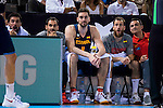 Spain's basketball player Sergio Llull, Jose Manuel Calderon, Pau Gasol and Sergio Rodriguez during the  match of the preparation for the Rio Olympic Game at Madrid Arena. July 23, 2016. (ALTERPHOTOS/BorjaB.Hojas)
