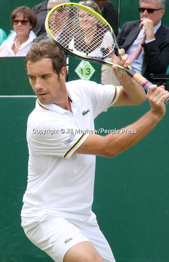 Richard Gasquet at The Boodles Tennis Challenge held at Stoke Park, Buckinghamshire, UK - June 21st 2013<br /> <br /> Photo by Jill Mayhew