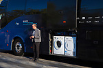 Team Sky bus, and washing machines, Volta Catalunya 2019