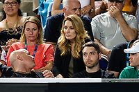 Steffi Graf sits with husband Andre Agassi (coach) in the box of Grigor Dimitrov at the Australian Open 2019 in Melbourne, Australia on January 16, 2019. Credit: Action Press/MediaPunch ***FOR USA ONLY***
