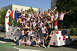 Publicity caravan Carrefour before Stage 14 of the 104th edition of the Tour de France 2017, running 181.5km from Blagnac to Rodez, France. 15th July 2017.<br /> Picture: ASO/Bruno Bade | Cyclefile<br /> <br /> <br /> All photos usage must carry mandatory copyright credit (&copy; Cyclefile | ASO/Bruno Bade)