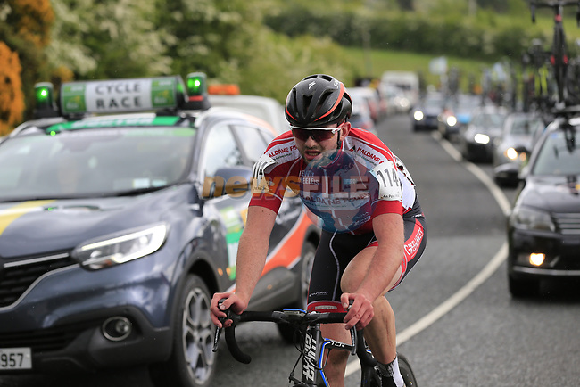 Jude Sands (Down Newry Wheelers ) on the first Cat 3 climb Loughcrew during Stage 1 of the 2017 An Post Ras running 146.1km from Dublin Castle to Longford, Ireland. 21st May 2017.<br /> Picture: Eoin Clarke | Cyclefile<br /> <br /> <br /> All photos usage must carry mandatory copyright credit (&copy; Cyclefile | Eoin Clarke)