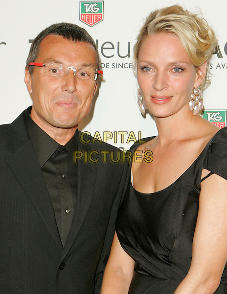 JEAN-CHRISTOPHE BABIN & UMA THURMAN.At Tag Heuer Party to Celebrate Women and Unsem at the Royalton, New York, NY, USA..September 12th, 2006.Ref: ADM/JL.headshot portrait glasses earrings.www.capitalpictures.com.sales@capitalpictures.com.©Jackson Lee/AdMedia/Capital Pictures.