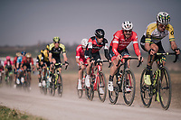 John Degenkolb (DEU/Trek-Segafredo) rolling over the 'Plugstreets'<br /> <br /> 81st Gent-Wevelgem in Flanders Fields (1.UWT)<br /> Deinze &gt; Wevelgem (251km)