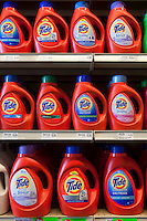 Tide liquid detergent are seen in a Metro grocery store in Quebec city March 4, 2009.