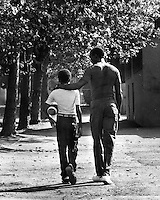 BIG BROTHER: Oakland, California, man takes fatherless youth in the Big Brother program.(1978 photo by Ron Riesterer)