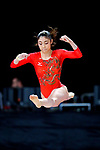 Yuki Uchiyama (JPN), <br /> AUGUST 21, 2018 - Artistic Gymnastics : <br /> Women's Individual All-Around Floor Exercise <br /> at JIEX Kemayoran Hall D <br /> during the 2018 Jakarta Palembang Asian Games <br /> in Jakarta, Indonesia. <br /> (Photo by Naoki Nishimura/AFLO SPORT)