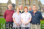 Patrick Cronin, Joan O'Leary, Danny Jones, Patricia Lewis, Con Doolan and Stanley Wade, staff at the St Finains Hospital, Killarney, pictured ahead of the closure of St Peters ward, the last ward to remain open, on Tuesday...............................................................................