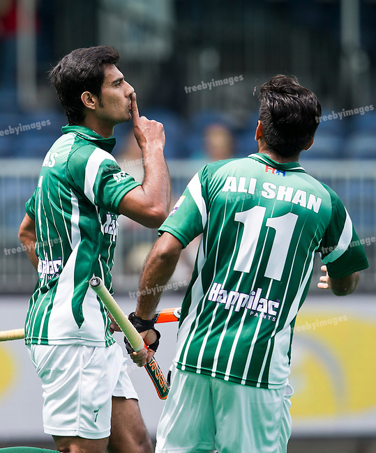 28/06/2015<br /> HWL Semi Final Antwerp Belgium 2015<br /> Pakistan v France Men<br /> Muhammad Waqas<br /> Photo: Grant Treeby