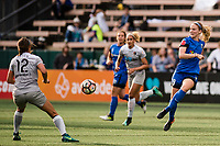 Seattle, WA - Sunday, August 13, 2017: Kristen McNabb during a regular season National Women's Soccer League (NWSL) match between the Seattle Reign FC and the North Carolina Courage at Memorial Stadium.
