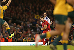 Wales fullback Leigh Halfpenny kicks an early conversion to extend Wales lead.<br /> Dove Men Series 2014<br /> Wales v Australia<br /> Millennium Stadium<br /> 08.11.14<br /> &copy;Steve Pope-SPORTINGWALES