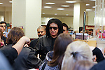 GENE SIMMONS. Signs copies of the new book KISS Kompendium, on which he collaborated with fellow KISS member, Paul Stanley. Simmons appeared at Barnes & Noble in Los Angeles, California, USA. February 8, 2010.