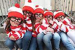 Free Pics     With Compliments<br /> Linda Murphy (age 5), Rebecca Lombard (age 10), Alannah Murphy (age 7), Chelsea Kelleher (age 6) and Ciara Greaney (age 6) pictured as Wally as Cork City was awash with Wallys on Sunday, 4th June 2011 as a striped and spectacled Where&Otilde;s Wally troop from Cork marched up Patrick&Otilde;s Hill with Jack Wise Street Performance World Champion 2010 to launch the Street Performance World Championship event, which takes place in Fitzgerald Park, Cork City on June 11th and 12th. The Wallys were on hand to sit, stand, salute, sing and do a little dance, not only to remind people what a full on fun day out for all the family the SPWC will be but also to launch the Where&Otilde;s Wally World Record attempt, which takes place in Cork on Sunday, 12th June as part of the event&Otilde;s thrill packed programme. People who wish to participate in the Where&Otilde;s Wally World Record attempt in Cork can buy their costume on www.spwc.ie for &Ucirc;12. Profits from the sales of the Wally costumes go to Africa Aware.<br /> Pic. Brian Arthur/ Press 22.