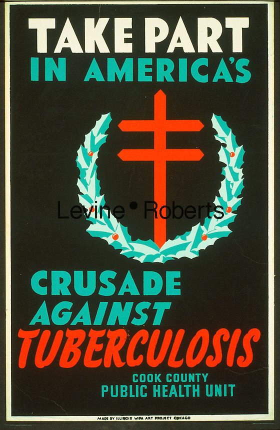Tuberculosis poster created by the WPA, 1941-1943. Library of Congress. (Richard B. Levine)