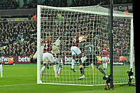 Fabinho heads wide during West Ham United vs Liverpool, Premier League Football at The London Stadium on 4th February 2019