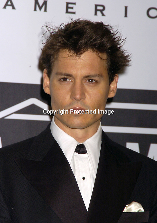 "Johnny Depp ..at The Actor's Fund of America Annual Gala- ""That's Entertainment "" at the Waldorf=Astoria on October 30, 2004.  Johnny Depp was being honored...Photo by Robin Platzer, Twin Images"