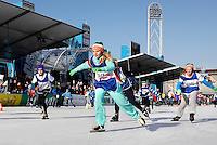 De Coolste Baan van Nederland. Tijdelijke IJsbaan in het Olympisch Stadion in Amsterdam. Schaatsen