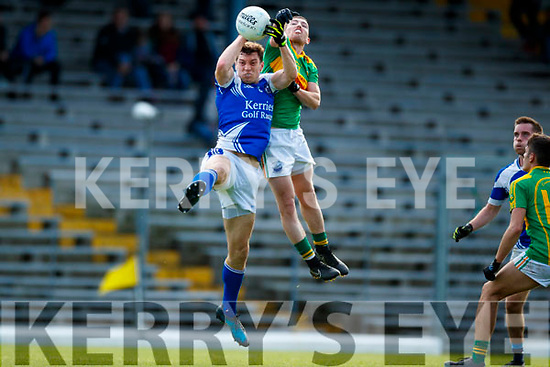 Niall O'Shea South Kerry in action against David Moran  Kerins O'Rahillys in the Kerry Senior Football Championship Semi Final at Fitzgerald Stadium on Saturday.