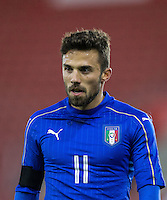 Federico Di Francesco (Bologna) of Italy during the Under 21 International Friendly match between England and Italy at St Mary's Stadium, Southampton, England on 10 November 2016. Photo by Andy Rowland.