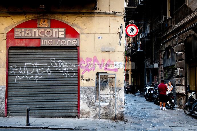 Palermo street scene, Sicily, Italy