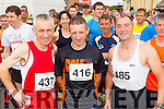 Stephen Griffin (Tralee Harriers) Noel Lawlor (Castlemaine) and Patrick Dillane (Blennerville) who took part in the Blennerville 10k run on Sunday morning.