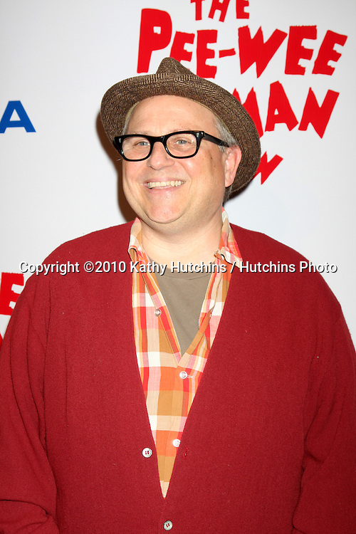 """Bobcat Goldthwait.arriving at the """"The Pee Wee Herman Show"""" Opening Night..Club Nokia.Los Angeles, CA.January 20, 2010.©2010 Kathy Hutchins / Hutchins Photo...."""