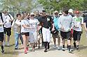 Ichiro Suzuki (Marlins),<br /> FEBRUARY 25, 2015 - MLB :<br /> Ichiro Suzuki of the Miami Marlins shakes hands with a fan during the Miami Marlins spring training camp in Jupiter, Florida, United States. (Photo by AFLO)
