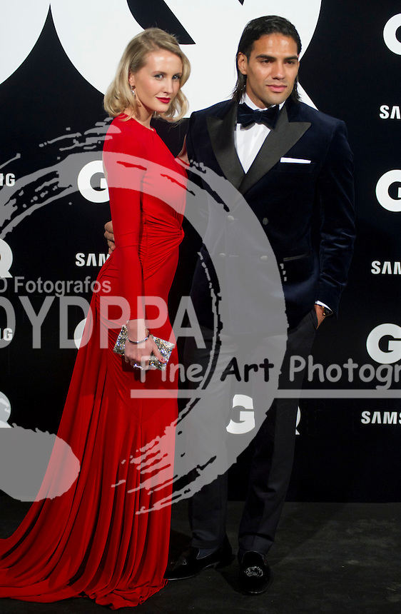 19/11/2012. Palace Hotel. Madrid. Spain. GQ Men Of The Year Award 2012. Radamel Falcao and Lorelei Taron. (C) Belen Diaz / DyD Fotografos