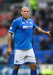 St Johnstone v Inverness Caledonian Thistle....22.02.14    SPFL<br /> Chris Iwelumo<br /> Picture by Graeme Hart.<br /> Copyright Perthshire Picture Agency<br /> Tel: 01738 623350  Mobile: 07990 594431