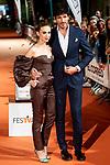 Actress Marta Hazas and Andres Velencoso attends to orange carpet of 'Velvet' during FestVal in Vitoria, Spain. September 04, 2018.(ALTERPHOTOS/Borja B.Hojas)