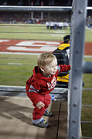 Stanford, CA - November 18, 2017: Young fan during the Stanford vs California football game Saturday night at Stanford Stadium.<br /> <br /> The Stanford Cardinal defeated the California Golden Bears 17 to 14.