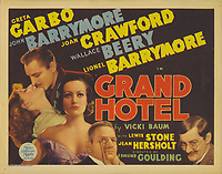 Grand Hotel (1932)<br /> Lobby card with Greta Garbo, John Barrymore, Joan Crawford, Wallace Beery &amp; Lionel Barrymore<br /> *Filmstill - Editorial Use Only*<br /> CAP/MFS<br /> Image supplied by Capital Pictures