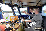 21-9-2017: Fran Whearty, Communications Executive, The National Lottery on his way to meet Mary Murphy, Post Mistress, Rerrin Post Office on Bere Island in County Cork after she sold a 500,000 Euro Millions Plus ticket with ferry operator John Harrington.<br /> Photo: Don MacMonagle<br /> <br /> Issued on behlf of The National Lottery
