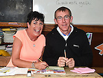 Linda Courtney and Peter Hamilton pictured at the open day in Duleek School for past pupils. Photo:Colin Bell/pressphotos.ie