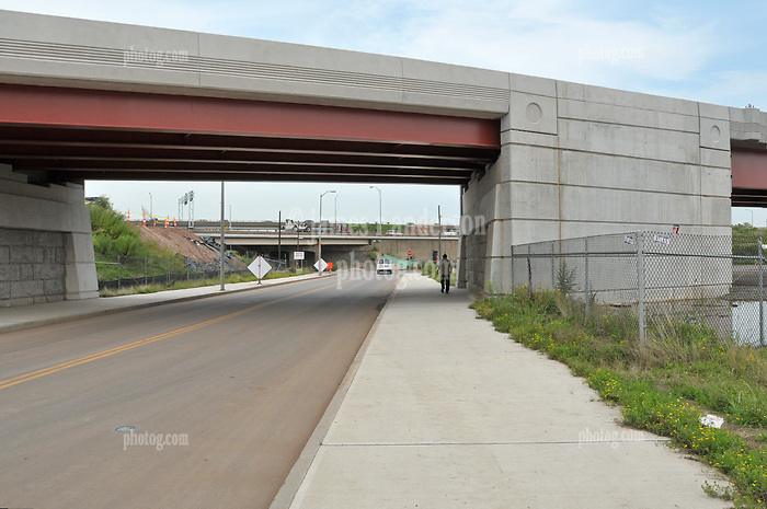 Pearl Harbor Memorial Bridge, New Haven Harbor Crossing Corridor. CT DOT Contract B1 Project No. 92-618 Progress Photography. Northbound West Approaches. Ninth and Final on site photo capture of once every four month chronological documentation.