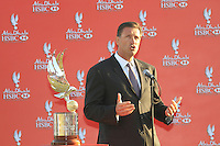 Simon Cooper Deputy Chairman & CEO HSBC Middle East speaking at the prise giving of the Abu Dhabi HSBC Golf Championship, Abu Dhabi GC,Abu Dhabi,United Arab Emirates.Picture Fran Caffrey www.golffile.ie