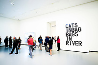 Illustration Ambiance / Christopher Wool - Untitled<br /> After Invisible Man by Raph Ellison<br /> Christopher Wool - Untitled<br /> Parigi 16-10-2017 MoMa <br /> Esposizione Arte moderna <br /> Foto JB Autissier / Panoramic / Insidefoto