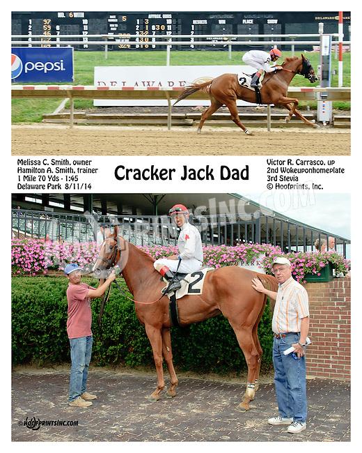 Cracker Jack Dad winning at Delaware Park on 8/11/14